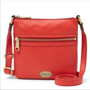 Fossil mini explorer coral crossbody with wallet